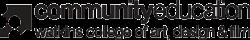 Community Education logo black